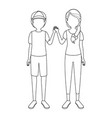 brother sister children vector image