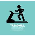 Man Running On A Treadmill vector image
