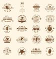 20 Summer Badges vector image