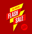 24 hour flash sale bright banner vector image vector image