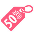 50 percent off tag vector image vector image