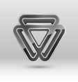 Abstract 3d triangle metal icon vector image vector image
