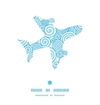 abstract swirls airplane silhouette pattern frame vector image vector image
