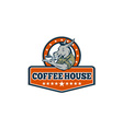 Army Sergeant Donkey Coffee House Cartoon vector image vector image