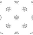 baseball sport arena pattern seamless vector image vector image