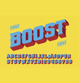 boost 3d vintage letters vector image vector image