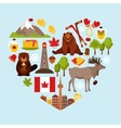 Canada decorative set vector image vector image