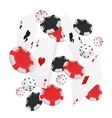 casino concept floating cards and chips casino vector image