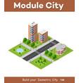 city quarter top view vector image