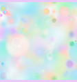 colourful magic light abstract bokeh in soft vector image vector image