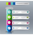 creative template chemical science for infographic vector image