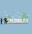 credibility business personal concept with big vector image