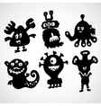 Cute monster doodle vector image vector image