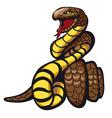 danger snake vector image vector image