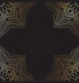 decorative mandala background vector image vector image