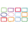 different designs of frames vector image vector image