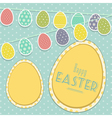 Easter vintage background with egg bunting vector | Price: 1 Credit (USD $1)