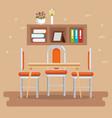 elegant dinning room scene vector image