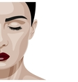 Face of beauty Woman with closed Eyes vector image vector image