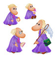 family fairy tale characters isolated on white vector image vector image