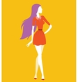 Fashion model girls vector image