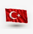 flag turkey vector image vector image