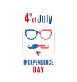 fourth of july greeting banner happy independence vector image vector image