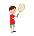 Good looking tennis player prepared for active vector image vector image