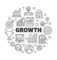 growth outline round concept vector image