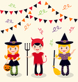 Halloween girls vector image vector image