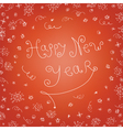handwritten new year vector image vector image