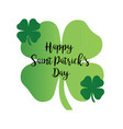 happy saint patricks day calligraphy graphic vector image
