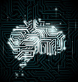 Human brain in the form of circuits vector image
