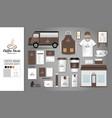 logo concept for coffee shop vector image
