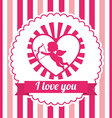 love card design vector image vector image