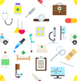 Medicine pattern stickers vector image