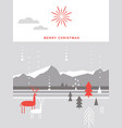 merry christmas card postcard vector image vector image