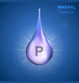mineral complex background vector image vector image
