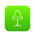 modern office chair icon digital green vector image vector image