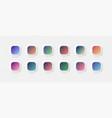 modern vivid color bright gradients set for ui ux vector image
