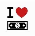 money symbol on white background vector image
