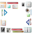 office tools background vector image vector image