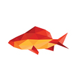 origami fish vector image vector image