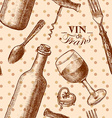 pattern of wine vector image