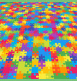 perspective background puzzle jigsaw puzzle vector image