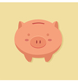 Piggy Bank in Cream Background vector image vector image