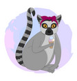 portrait of lemur vector image