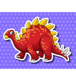 Red dinosaur on blue background vector image vector image