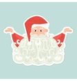 Santa Claus icon with curly beard isolated on blue vector image