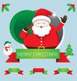 Santa with Ribbon and Text vector image